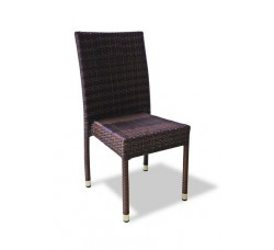 Плетеный стул MILANO банкетный темно-коричневый