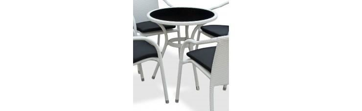 Плетеный стол LOTUS круглый светлый