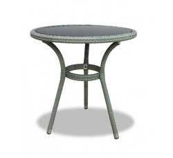 Плетеный стол LOTUS круглый светло-серый