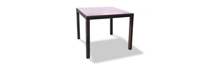Плетеный стол MILANO 90 см темно-коричневый