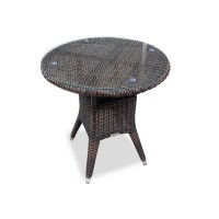 Плетеный стол WARSAW темно-коричневый