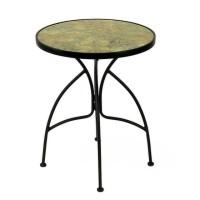 Стол садовый керамический  60x66x72 см, металл/керамика