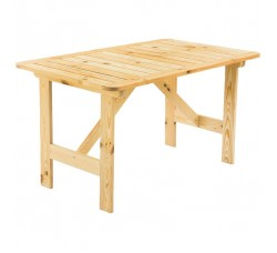 Стол садовый 80x71x130 см, дерево