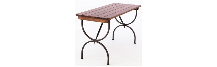 Стол садовый  60x78x150 см, металл/дерево