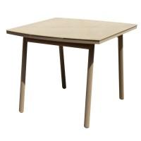 Стол садовый 90x75x90 см, металл/стекло