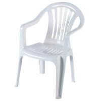 Кресло садовое белое 567x825x578 мм