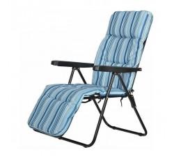 Кресло садовое с подставкой для ног, складное