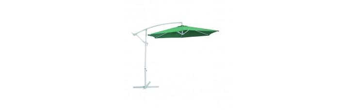 Зонт дачный 2.7 м зелёный подвесной на подставке