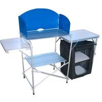 Столик для пикника складной с полками, металл