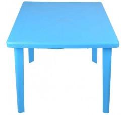 Стол пластиковый квадратный  голубой