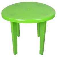 Стол пластиковый круглый  салатовый