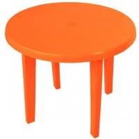 Стол пластиковый круглый оранжевый