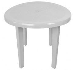 Стол пластиковый круглый белый