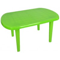 Стол пластиковый овальный салатовый