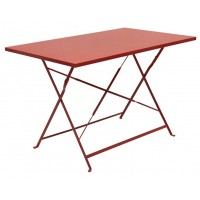 Стол складной металлический красный, 110x70x71 см