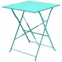 Стол складной металлический бирюзовый, 60x60x71 см
