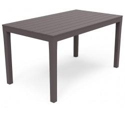Стол пластиковый коричневый, 138х80х72 см