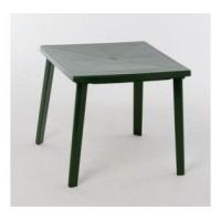 Стол квадратный темно-зеленый