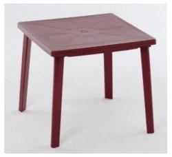 Стол квадратный вишневый