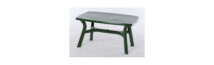 Стол темно-зеленый прямоугольный