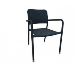 Кресло сталь/ротанг