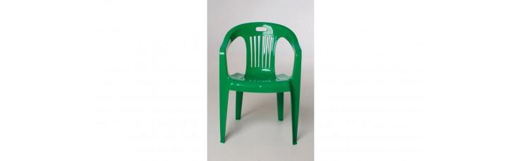 Кресло пластиковое, зеленый