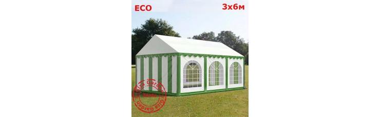 Шатер Giza Garden 3x6м бело- зеленый ECO