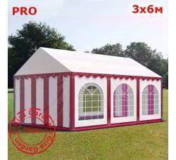 Шатер Giza Garden 3x6м бело-красный