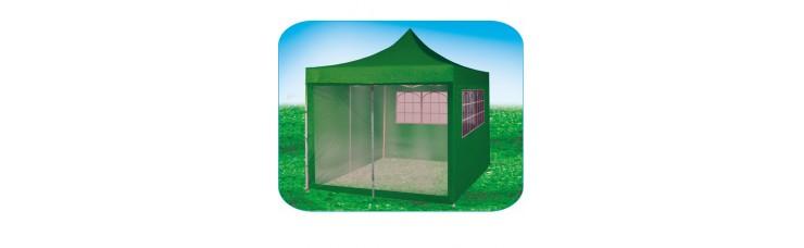 Стенка-сетка с «молнией»-входом 4.5м, зеленая, для быстросборных шатров