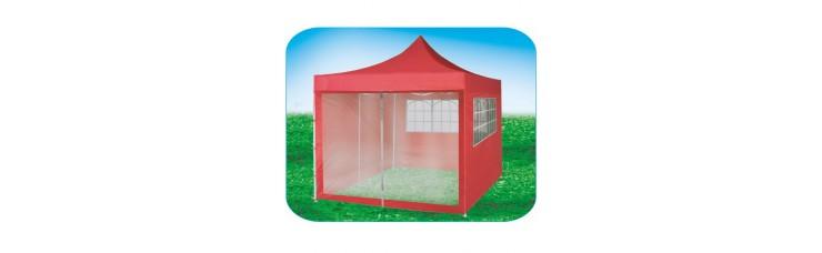 Стенка-сетка с «молнией»-входом 4.5м, красная, для быстросборных шатров