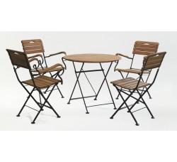 Стол круглый 80*80 см + 4 стула с подлокотниками