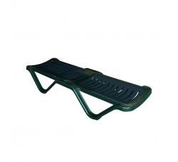 Шезлонг пластиковый 4villa зеленый