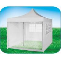Стенка-сетка с «молнией»-входом 4.5м, белая, для быстросборных шатров