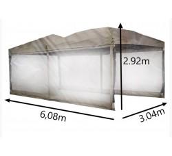 Быстросборный шатер Комфорт Бежевый 3х6м со стенками
