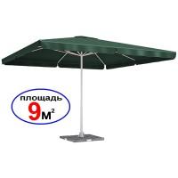 Большой зонт Квадрат TGH-003-G, зеленый, 3х3 м