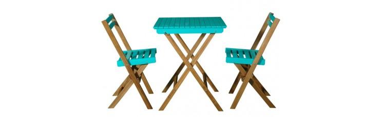 Набор складной мебели из 3-х предметов, голубой