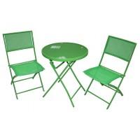 Набор мебели стол + 2 стула, зеленый