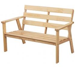 Скамья деревянная  2-х местная