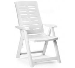 Кресло пластиковое белый, 60x61x109 см