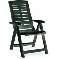 Кресло пластиковое зелёное, 60x61x109 см