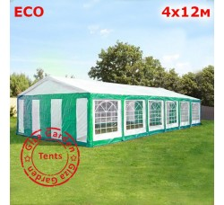 Шатер Giza Garden 4x12м зелено-белый ECO