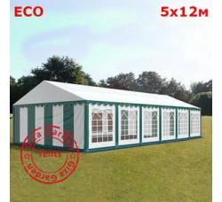 Шатер Giza Garden 5x12м бело-зеленый ЭКО