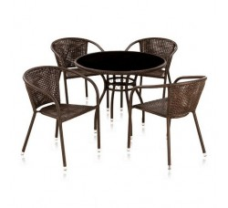 Набор мебели (иск. ротанг) Milton-1 (4+1(T-252А Y-137B))