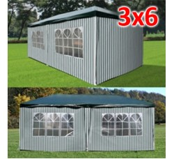 Садовый шатер AFM 1015A green/white 3х6м