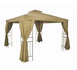 Комплект Крыша и шторы  шатра 3х3 бежевый, коричневый