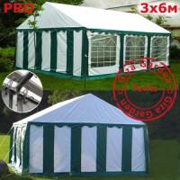 Шатер Giza Garden 3x6м бело-зеленый PRO