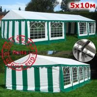 Шатер Giza Garden 5x10м зелено-белый PRO (ПРО)