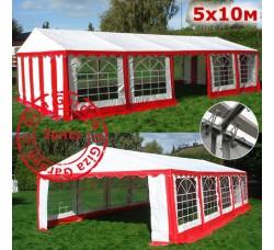 Шатер Giza Garden 5x10м красно-белый PRO (ПРО)