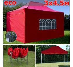 Быстросборный шатер гармошка со стенками 3х4,5м красный