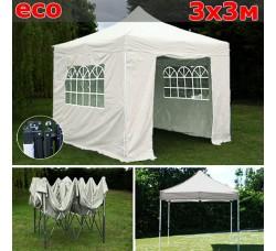 Быстросборный шатер гармошка 3х3м белый